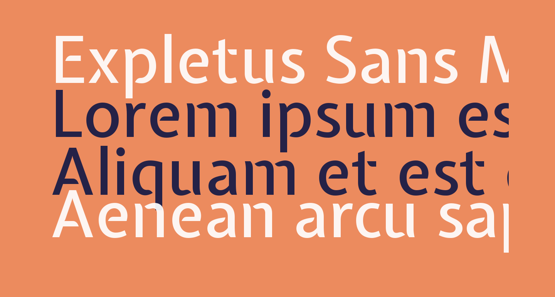 Expletus Sans Medium