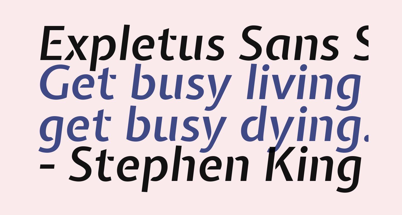 Expletus Sans SemiBold Italic