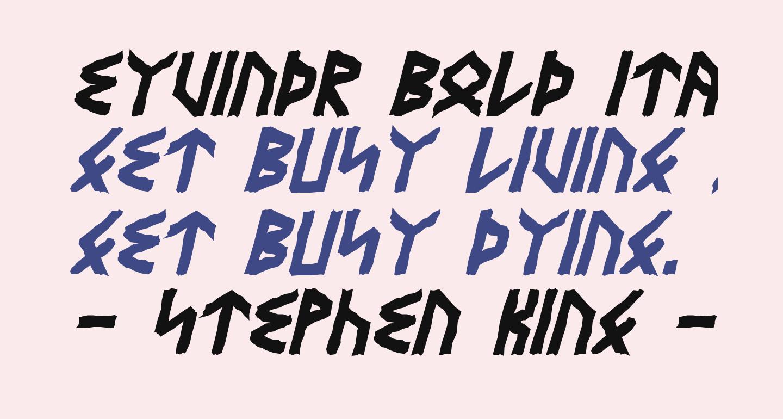 Eyvindr Bold Italic
