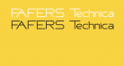 FAFERS Technical Font