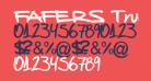 FAFERS True Type Handwriting Font
