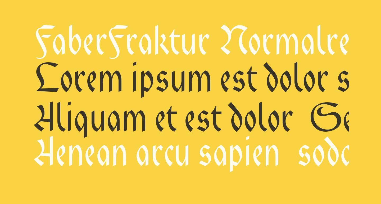 FaberFraktur-Normalreduced