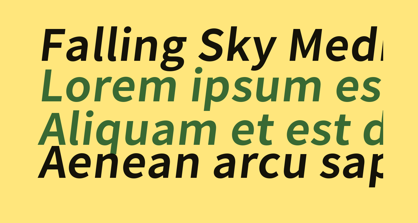 Falling Sky Medium Oblique
