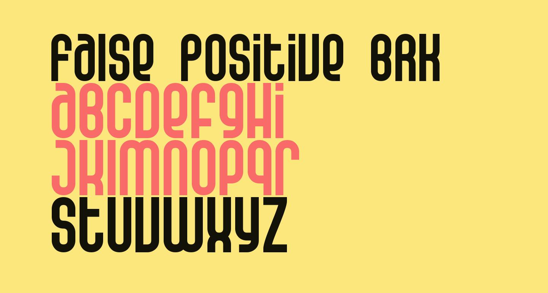 False Positive BRK