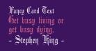 Fancy Card Text
