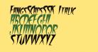 FangsSCapsSSK Italic