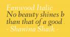 Fanwood Italic