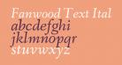 Fanwood Text Italic