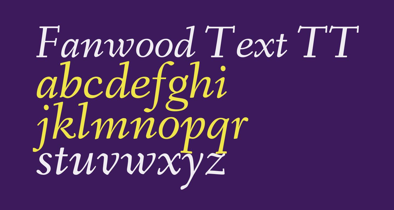 Fanwood Text TT Italic