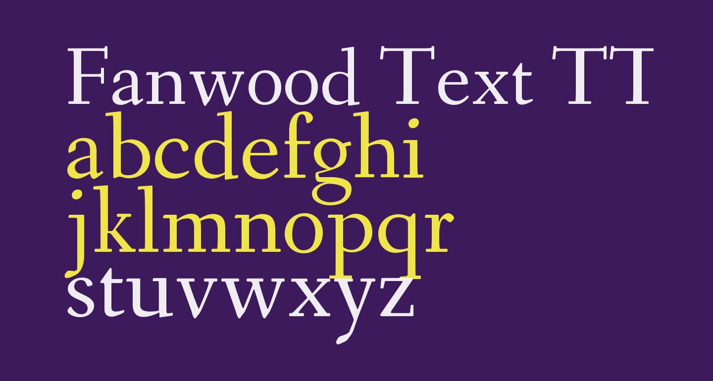 Fanwood Text TT Regular