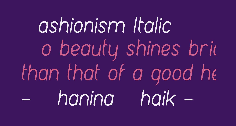 Fashionism Italic