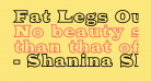Fat Legs Outline