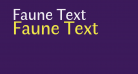 Faune Text