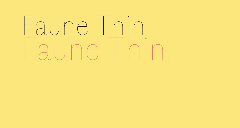 Faune Thin