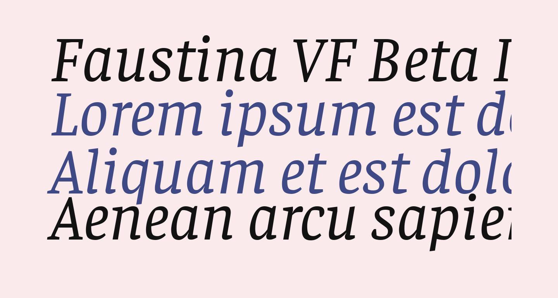 Faustina VF Beta Italic