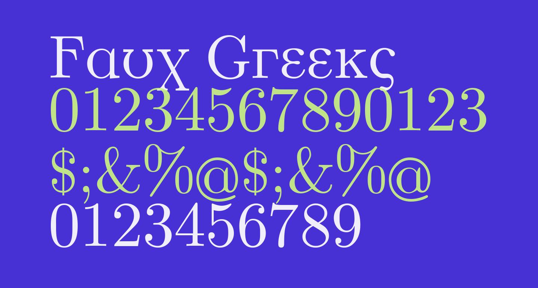 Faux Greeks