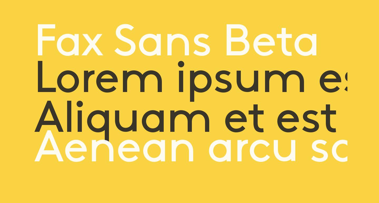 Fax Sans Beta