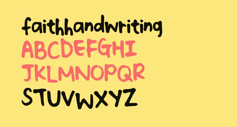 faithhandwriting
