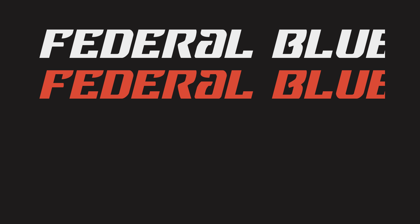 Federal Blue Expanded Italic