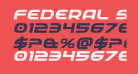Federal Service Expanded Bold Italic