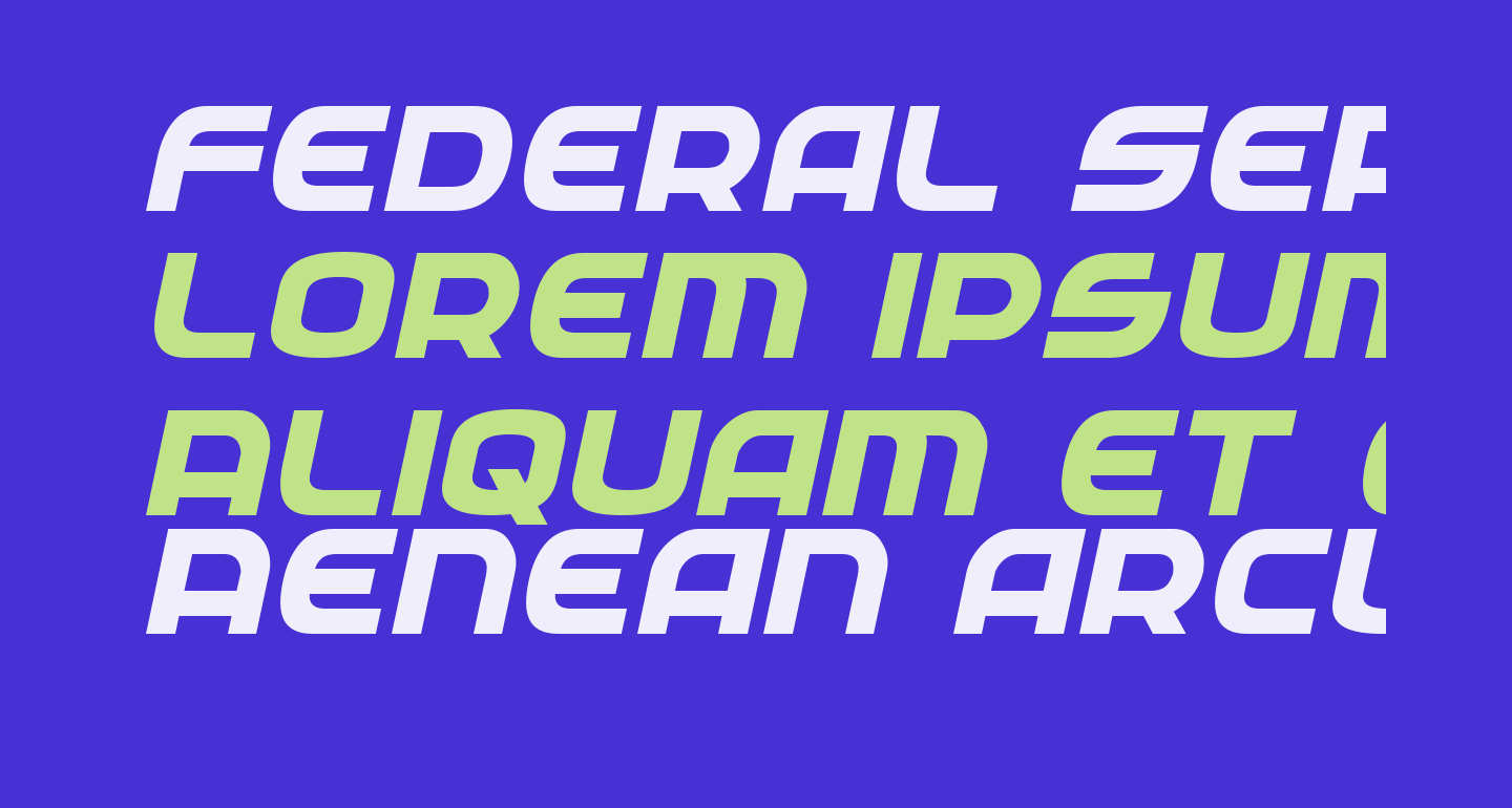 Federal Service ExtraBold Italic