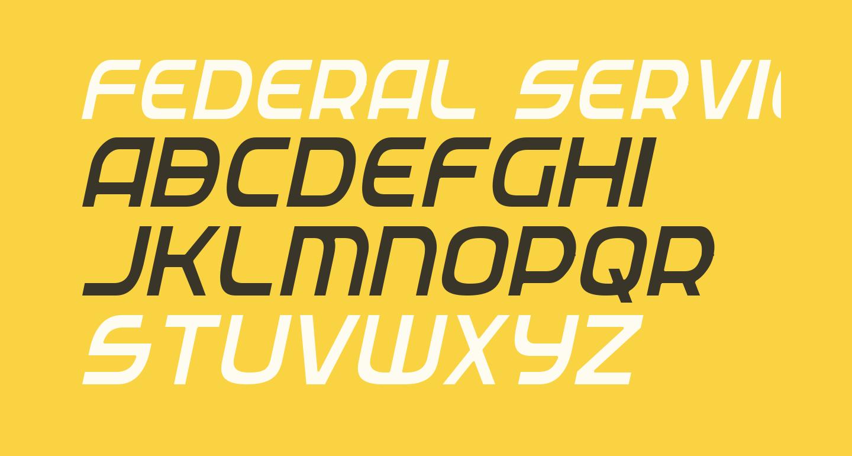 Federal Service Light Condensed Italic