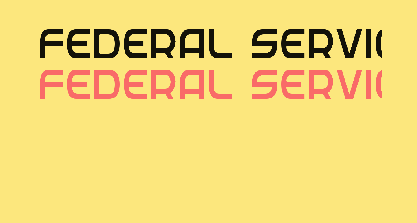 Federal Service Light Condensed