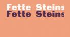 Fette Steinschrift