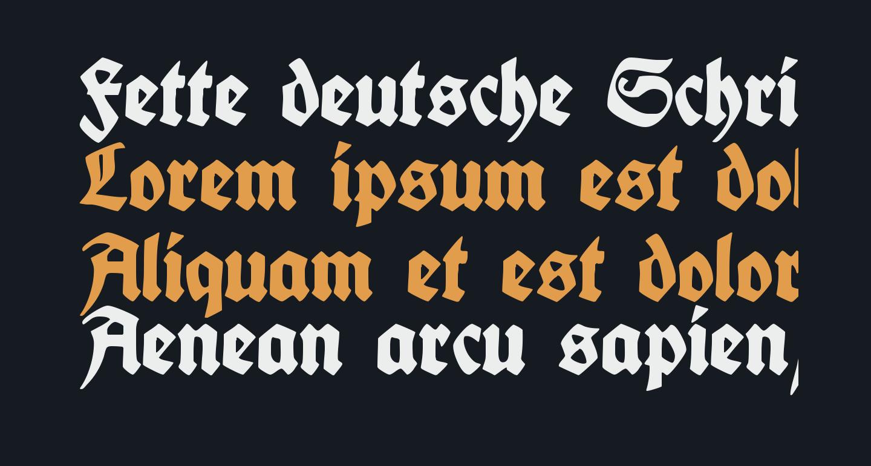 Fette deutsche Schrift