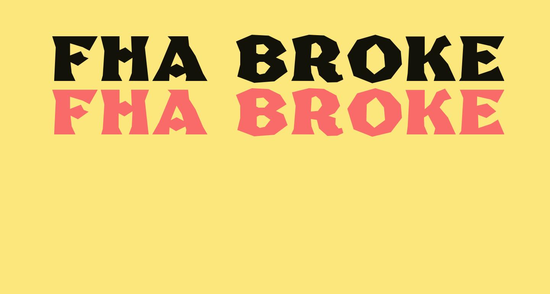 FHA Broken Gothic Poster NC