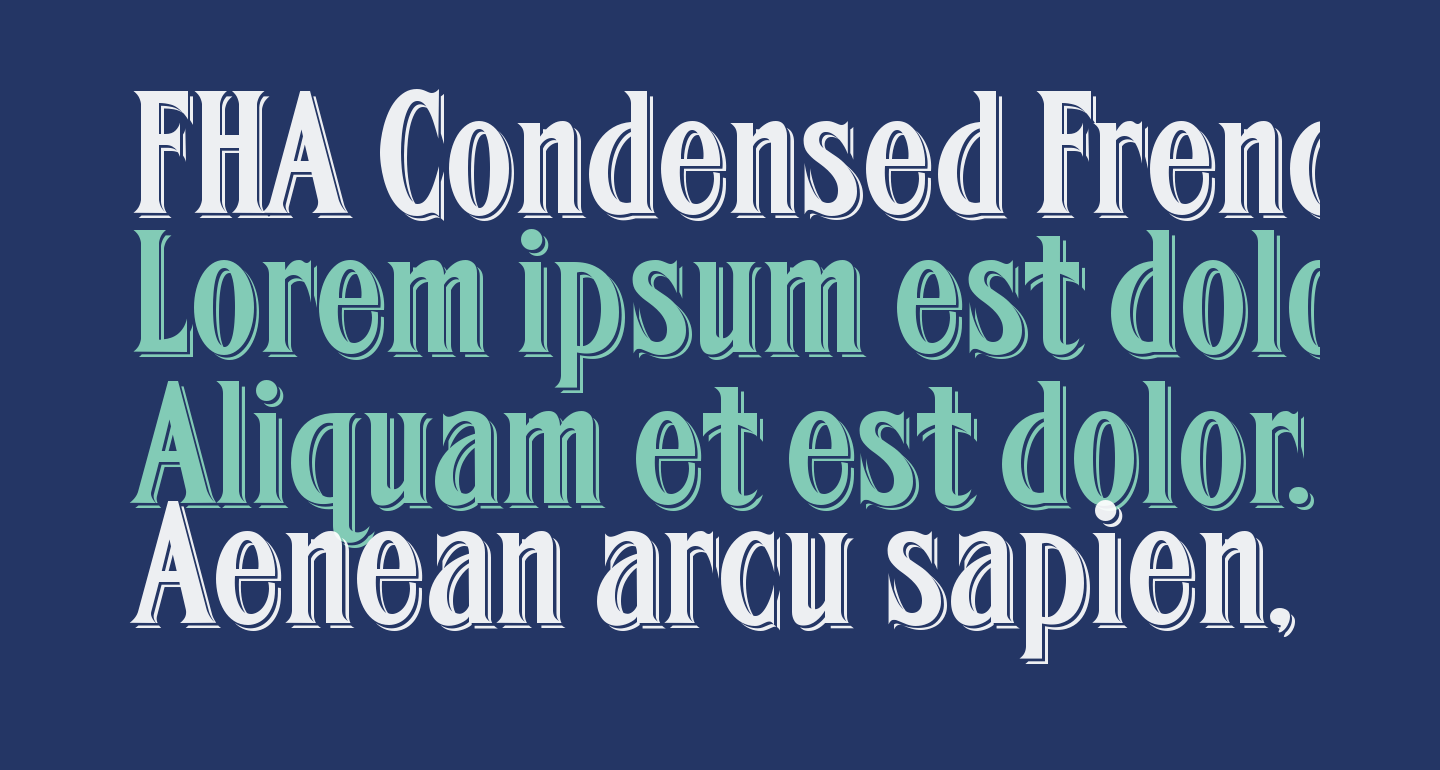 FHA Condensed French Shaded NC
