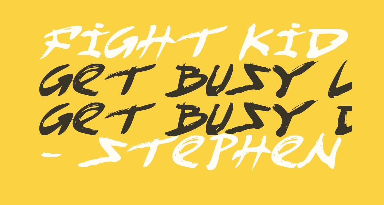 Fight Kid Italic