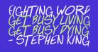 Fighting wordz Italic