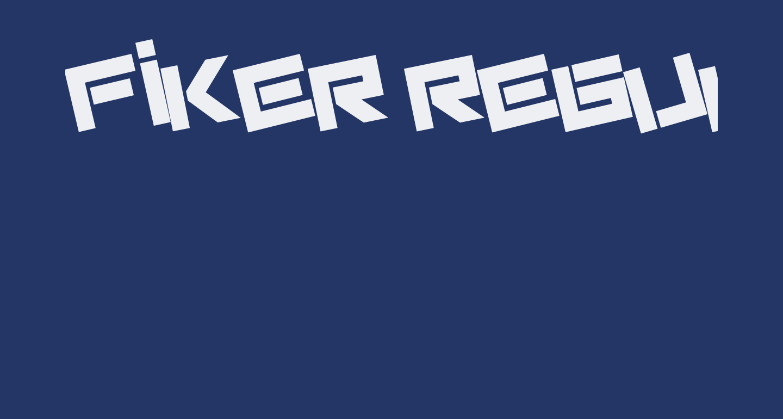 Fiker regular promo