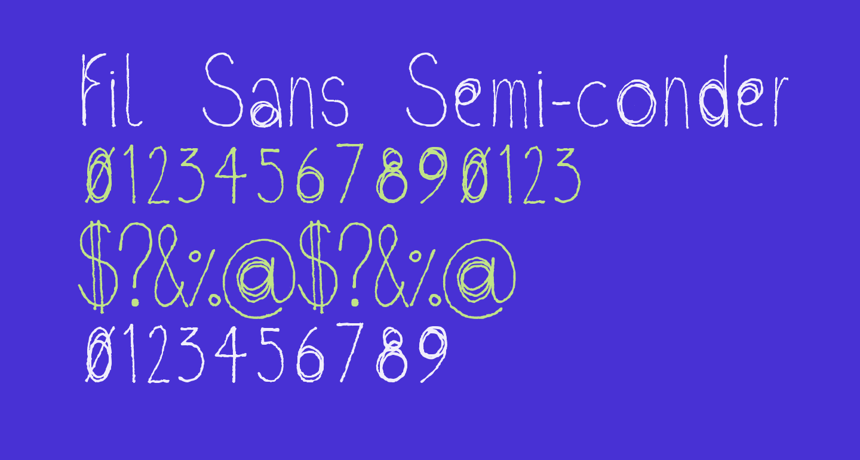 Fil Sans Semi-condensed Thin