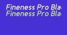 Fineness Pro Black Italic