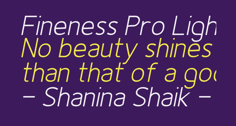 Fineness Pro Light Italic