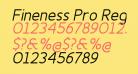 Fineness Pro Regular Italic