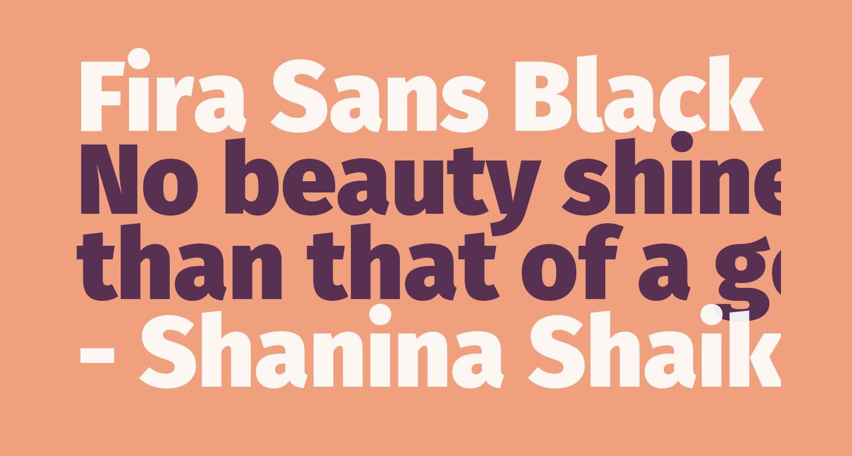 Fira Sans Black