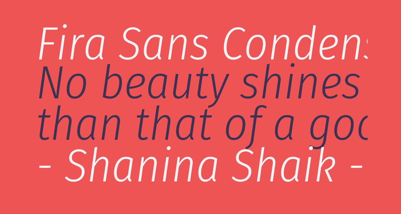 Fira Sans Condensed Light Italic