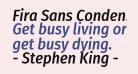 Fira Sans Condensed Medium Italic