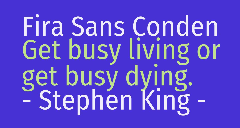 Fira Sans Condensed Regular