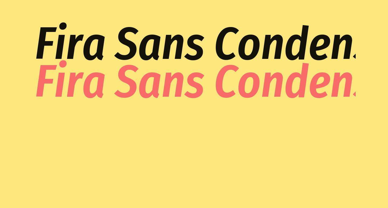 Fira Sans Condensed SemiBold Italic