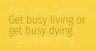 Fira Sans Condensed Thin