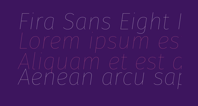 Fira Sans Eight Italic