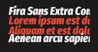 Fira Sans Extra Condensed Black Italic