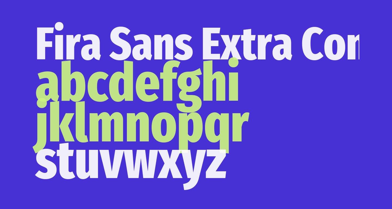Fira Sans Extra Condensed ExtraBold