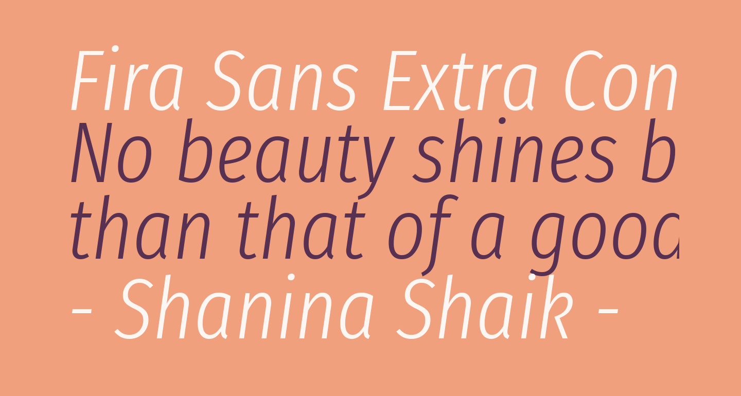 Fira Sans Extra Condensed Light Italic