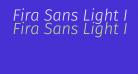 Fira Sans Light Italic