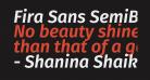 Fira Sans SemiBold Italic